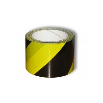 Taśma ostrzeg.czarno-żółta 100mb