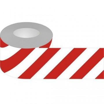 Taśma odblaskowa biało-czerwona 50mm/10m