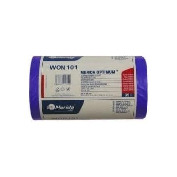 MERIDA Worki na odpady 50x60 poj.35L,50szt niebieskie